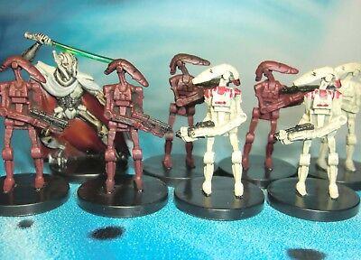 Star Wars Miniatures Lot  Battle Droid General Grievous !!  s97