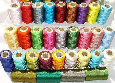 25 Embroidery Machine Thread Spools for Brother,Janome, Singer more, 25 Colours