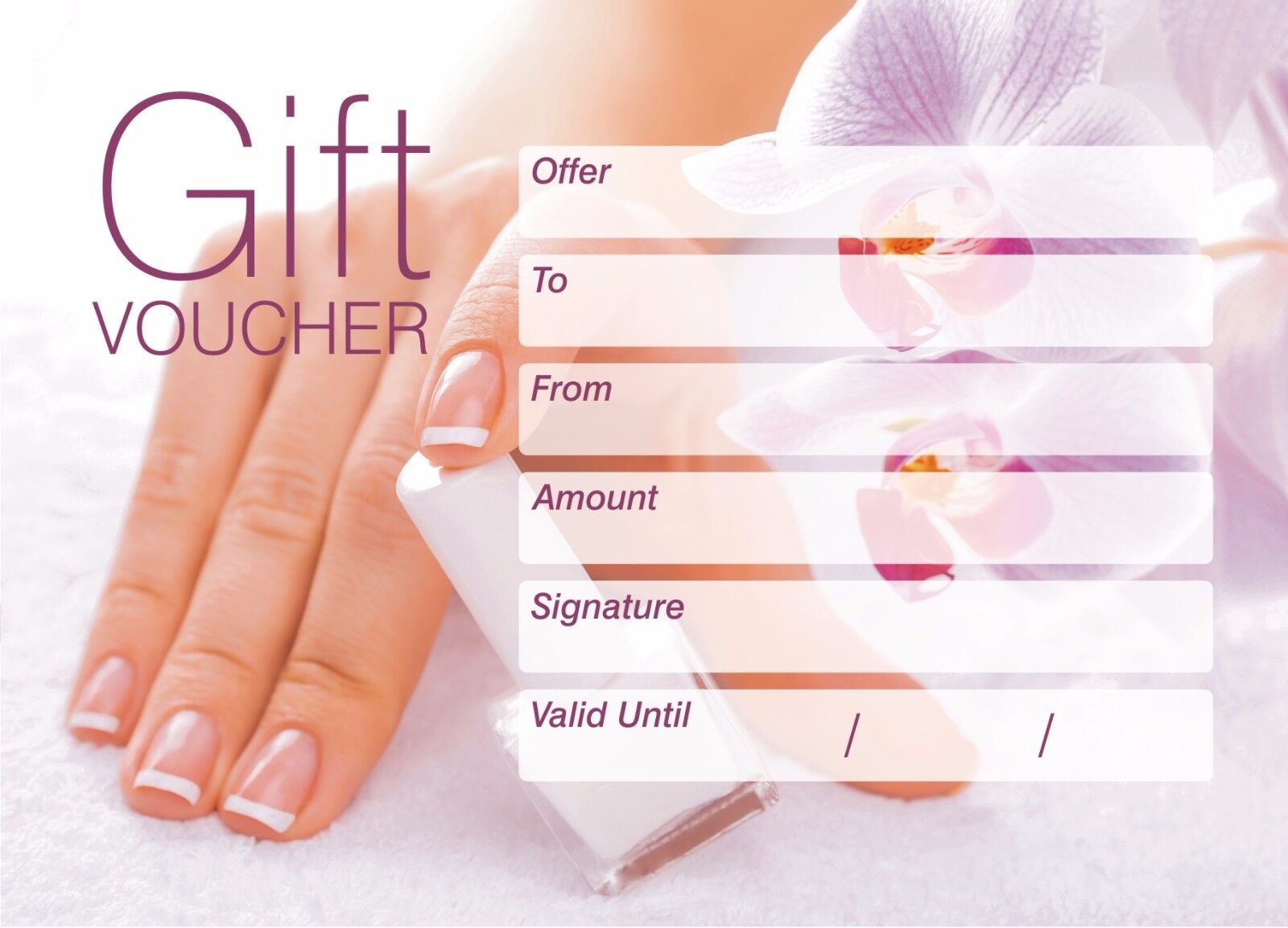 Nail Gift Certificate Template Free Tierbrianhenryco - Nail gift certificate template