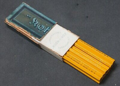 12 Vintage L&C Hardtmuth Koh-I-Noor CZECHO-SLOVAKIA Pencils, 1/2 Original Box