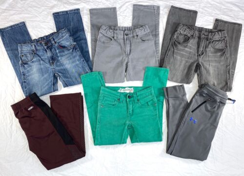 Lot of 6 Boys Jeans/Pants size 8 Skinny, Old Navy, Faded Glory, WRG Levis EUC!