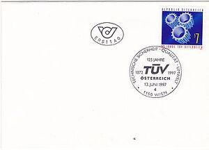FDC 1997 - Mi 2225 : 125 Jahre Technischer Überwachungsverein TÜV ,SST 1150 Wien - Frohnleiten, Österreich - FDC 1997 - Mi 2225 : 125 Jahre Technischer Überwachungsverein TÜV ,SST 1150 Wien - Frohnleiten, Österreich