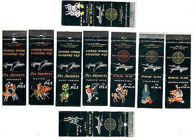 PAA PAN AM COLLECTION 9 MATCHBOX LABEL ANNI '50 AVIAZIONE AERONAUTICA AIRLINES