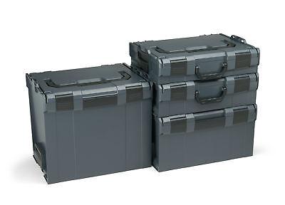 Bosch Sortimo 4er Set L-Boxx Gr1 - Gr4 anthrazit innovatives Transportsystem
