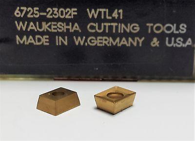 Lot Of 20 Waukesha 6725-2302f Tin Coated Carbide Inserts Wtl41