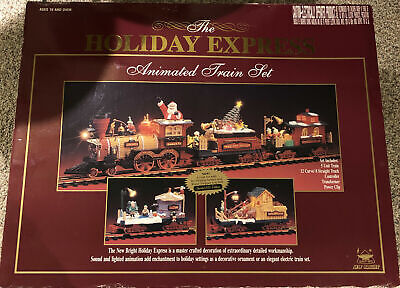 The HOLIDAY EXPRESS New Bright Animated Christmas Train Set #385 2000