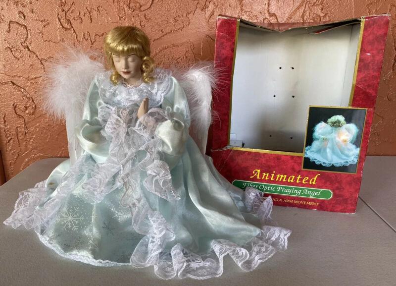 Animated Fiber Optic Praying Angel Doll Christmas