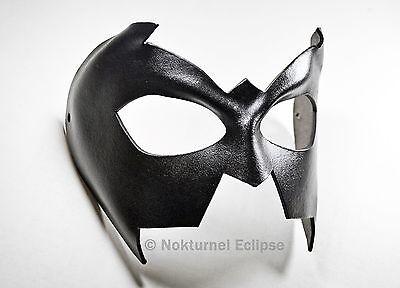 Nightwing Black Leather Mask Batman Superhero Batgirl Halloween Costume Unisex - Batgirl Mask
