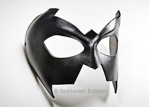 Nightwing Black Leather Mask Super Hero Batgirl Batman Halloween Costume Unisex