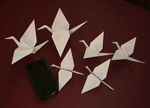 Origami Crane Family - White, assorted sizes. Decoration, Craft.