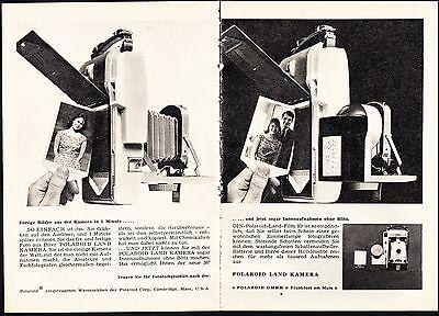 3w1701/ Alte Reklame von 1960 - POLAROID Land Kamera