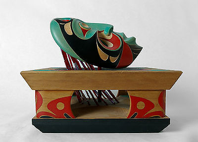 Gitxsan 'Weget and the Swans' Ken Mowatt Northwest Coast Native Sculpture Art