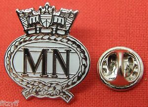 Merchant Navy Crest Lapel Hat Cap Tie Pin Badge Naval Brooch