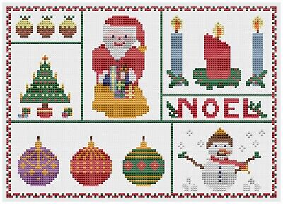 Cross Stitch Card Making - Christmas Noel Cross Stitch Kit by Florashell - Suitable for card making
