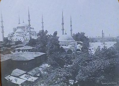(Mosque of Sultan Ahmed I, Constantinople (Istanbul), Magic Lantern Glass Slide)