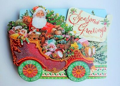Punch studio christmas cards punch studio set of 4 glitter dimensional christmas cards santas wagon m4hsunfo