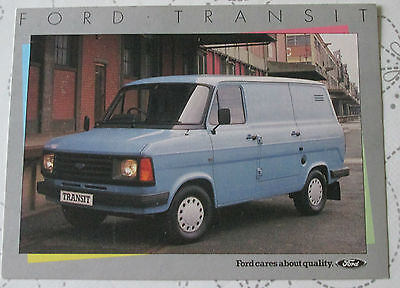 1985 FORD TRANSIT SWB POSTCARD REF NO FB 1177