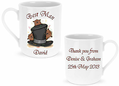 Personalised Best Man / Usher / Page Boy Mug - Ideal Wedding GIFT for