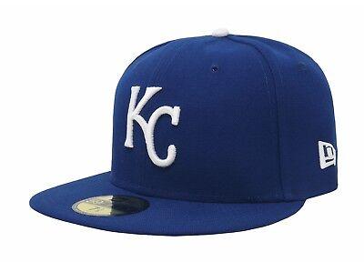 New Era 59Fifty MLB Cap Kansas City Royals 2019 On Field Fitted Game Hat - Blue - Kansas City Royals Hats