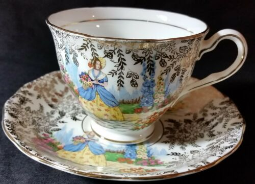 Vintage Colclough Floral Bone China Cup and Saucer Made in England
