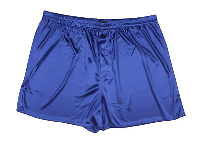 Intimo Men's 100% Polyester Boxer Brief Underwear Blue Large