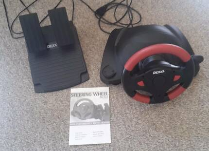 PC Gaming Racing Steering Wheel and Pedals