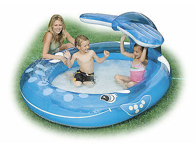 INTEX INFLATABLE WHALE Unroll POOL CHILD TODDLER WADDING PLAY SWIMMING POOL