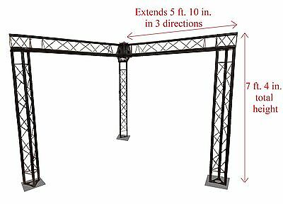 Trade Show Booth Trusses Dj Stage 7 X 5 Metal Truss Triangle Trusses Black