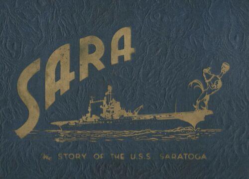 ☆ USS SARATOGA CV-3 WORLD WAR II DEPLOYMENT CRUISE BOOK YEAR LOG LOT 1943 ☆