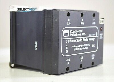 Continental Industries Rsaa-660-30-3d0 3 Phase Solid State Relay Ssr D