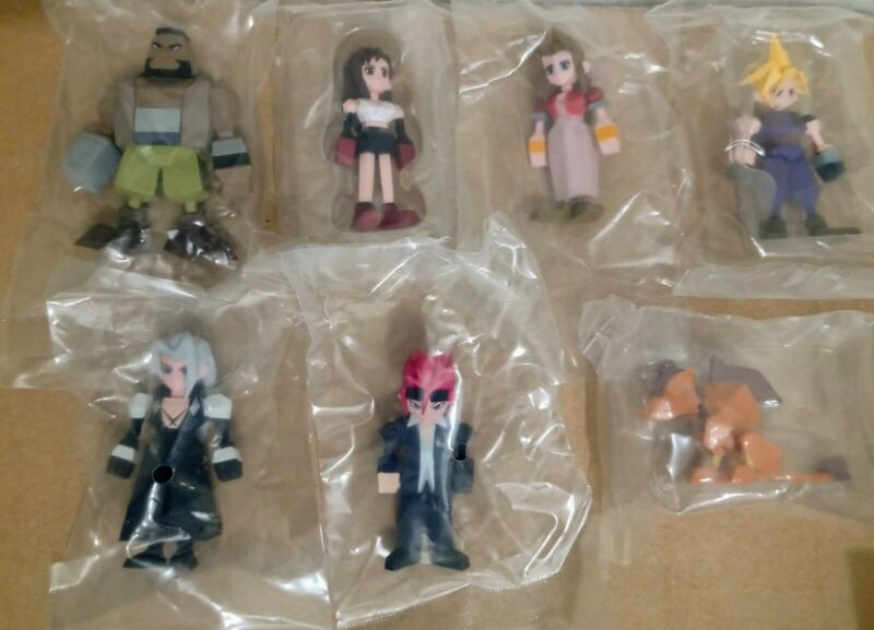 Square Enix Official Final Fantasy VII 7 Polygon Figures Set of 7 New!