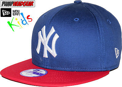 New Era 950 Kids Cotton Block NY Blue/Red Snapback Cap (Age 5 - 10 years)