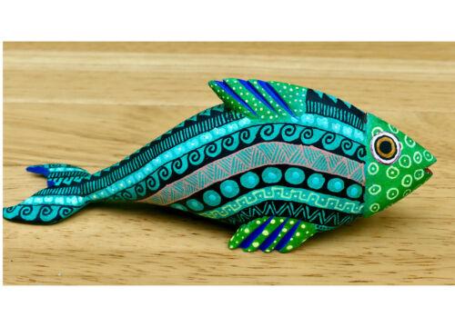 FISH Wood Carving | Alebrije | Colorful Oaxacan Mexican Folk Art | Oaxaca Mexico