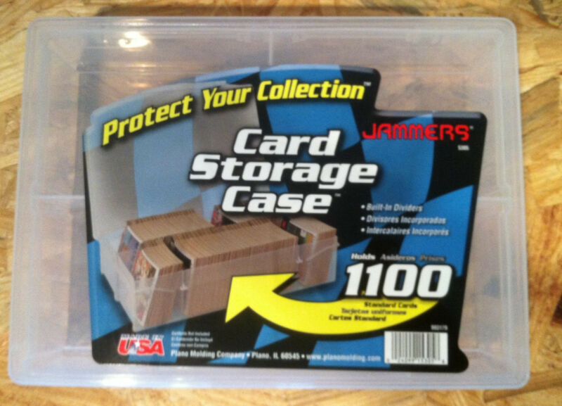Trading Card Storage Box Case 1100 Count Plastic Plano Jammers
