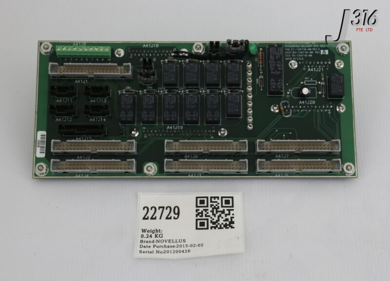 22729 Novellus Pcb Integrated Delivery Sys Seq-x 27-134710-00 03-134710-00