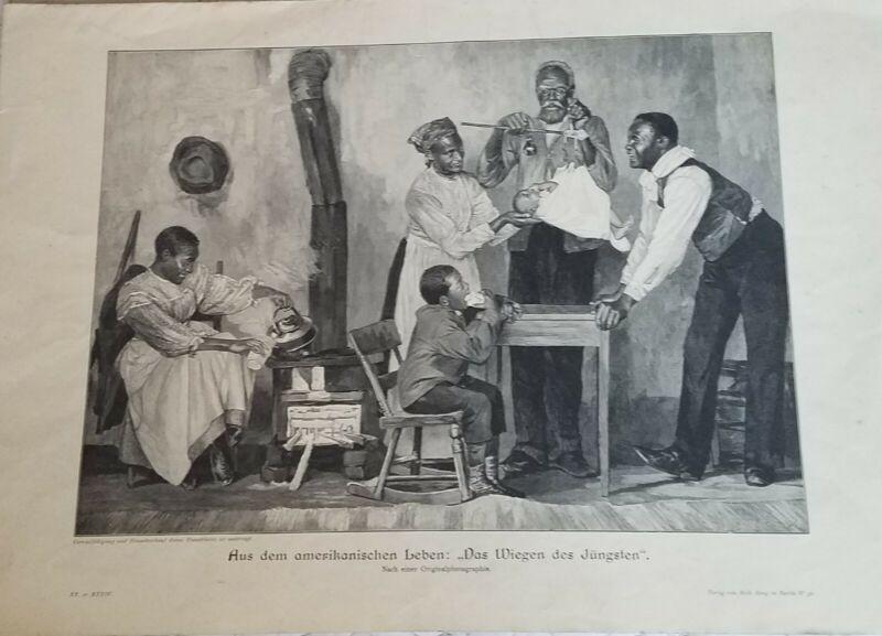 RARE ANTIQUE Print Black Americana