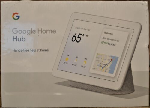 Google Home Hub Voice-Activated Smart Assistant #GA00516-US  - NEW