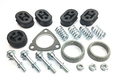 Complete Exhaust and Catalytic Converter Fitting Kit Gaskets Bolts Hangers 19 pc