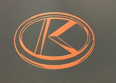 Tractor Decal Set - KUBOTA TRACTOR EMBLEM VINYL DECAL STICKER - Orange - SET OF 2