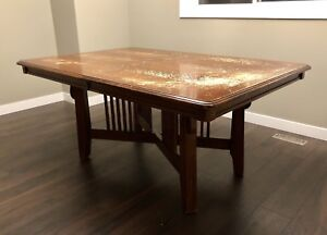 Wood dining table with leaf (no chairs)
