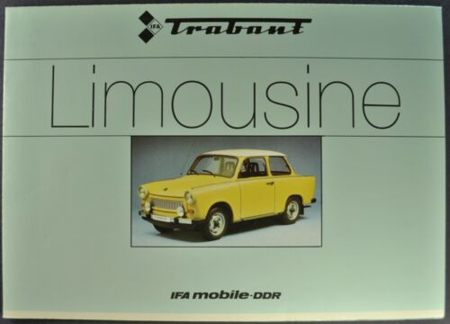 1966-1967 Trabant 601 Limousine Brochure Folder VEB Sedan Excellent Original