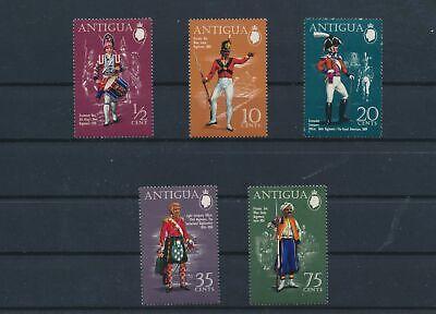 LO15723 Antigua soldier uniforms fine lot MNH