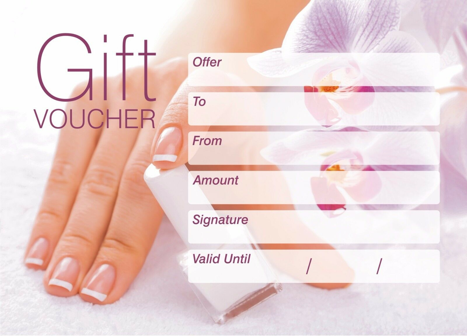 where can i sell my gift card for cash nail beauty salon gift vouche blank card coupo massage 2759