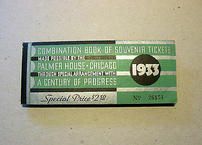 1933 Chicago Century of Progress Exposition Ticket Book
