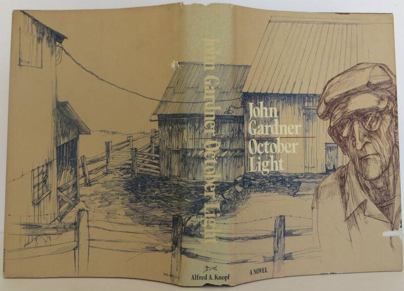 John Gardner October Light Inscribed First Edition