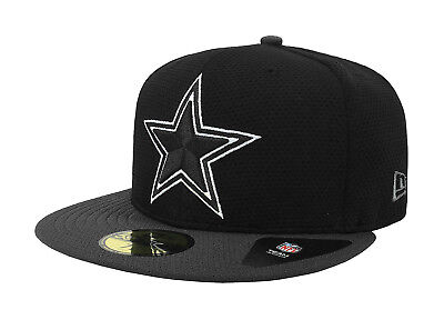 New Era 59Fifty Cap Dallas Cowboys Mens Basic Fitted Hat Black Charcoal 5950 59fifty Mens Fitted Hat Cap