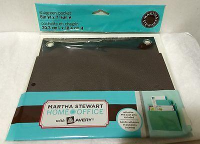 Martha Stewart Home Office Shagreen Pocket 24507 Brown Brand New