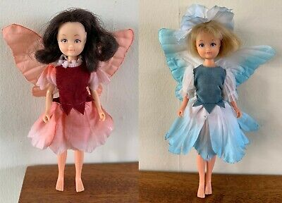 Hornby Flower Fairies x 2 - Pink & Almond Blossom - Vintage Fairy Dolls 80s Toy