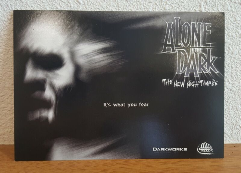Maxracks Collectors Movie Post Card Alone in the Dark GUTTER & ANAPOL