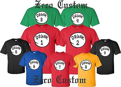 Party Names (Drunk 1 Drunk 2 T Shirt Drinking Party Bar Tee Beer ALL SIZES customized)